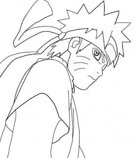 Sketsa Mewarnai Gambar Kartun Naruto 20161