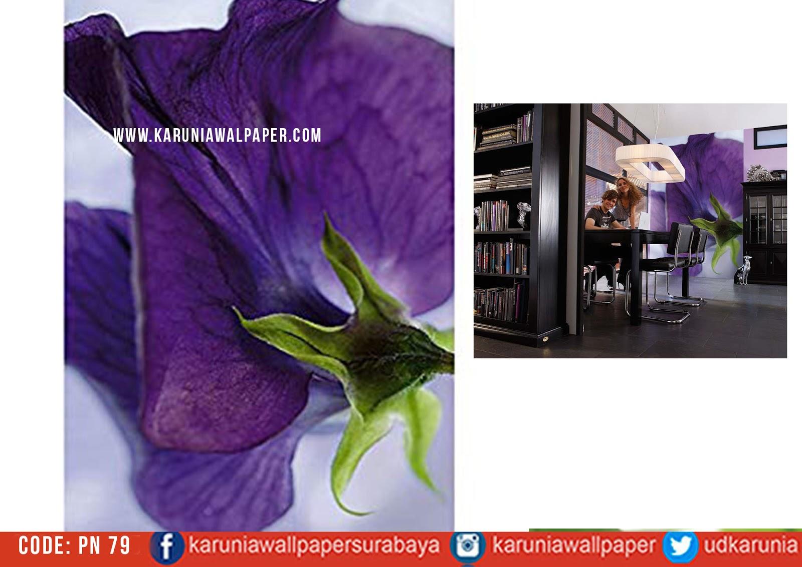 jual wallpaper bunga ungu