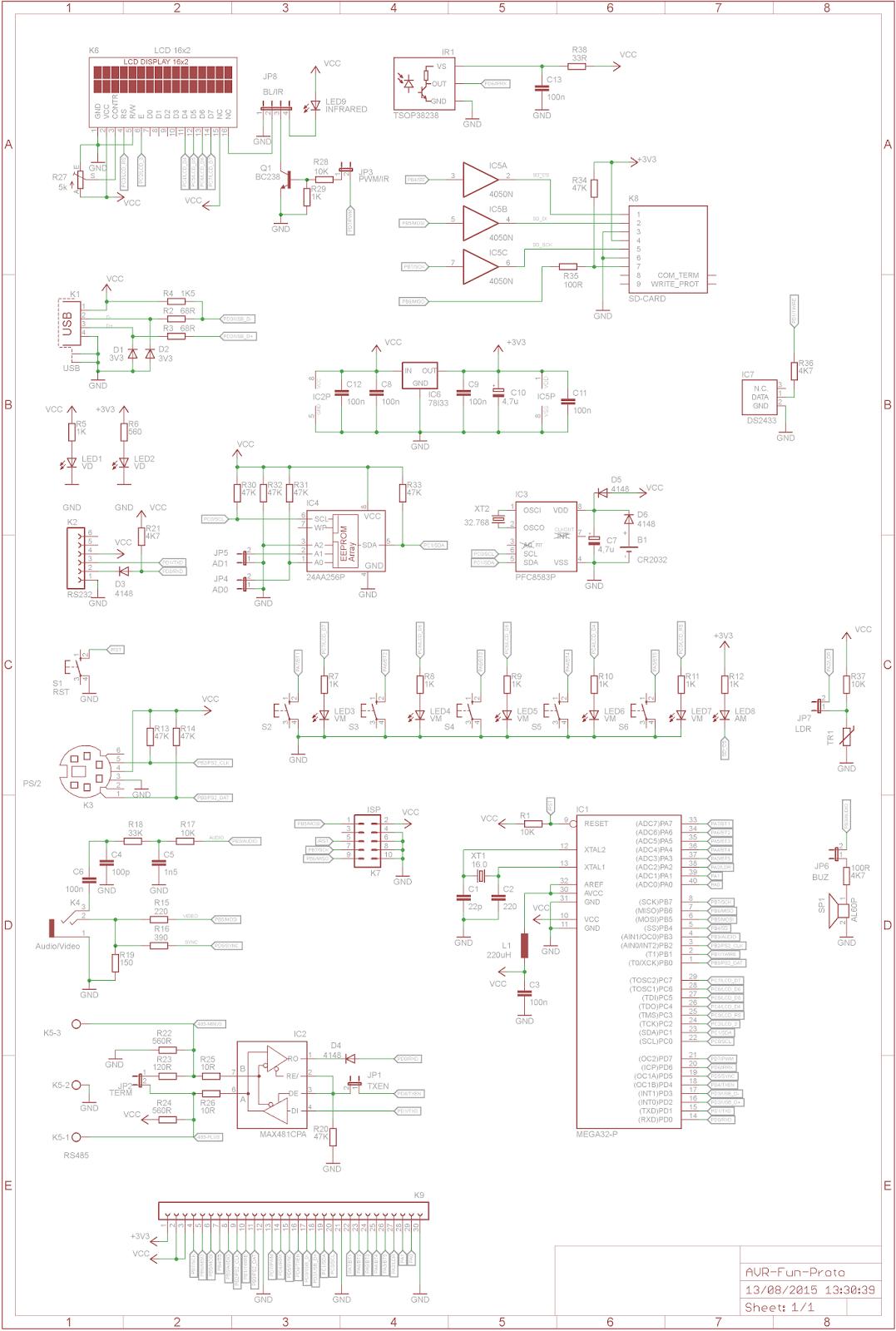Danjovic Placa De Prototipagem Com Avr Avr Fun Concluida