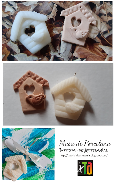 casita con pajarito, porcelana fría