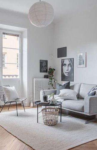 white living room decor idea