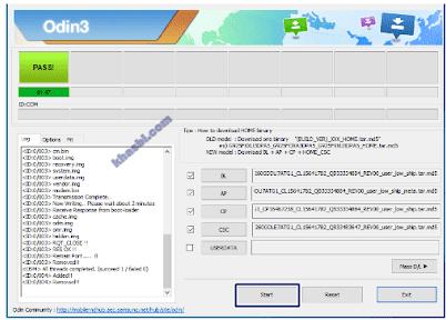 menambahkan file binary samsung a750gn