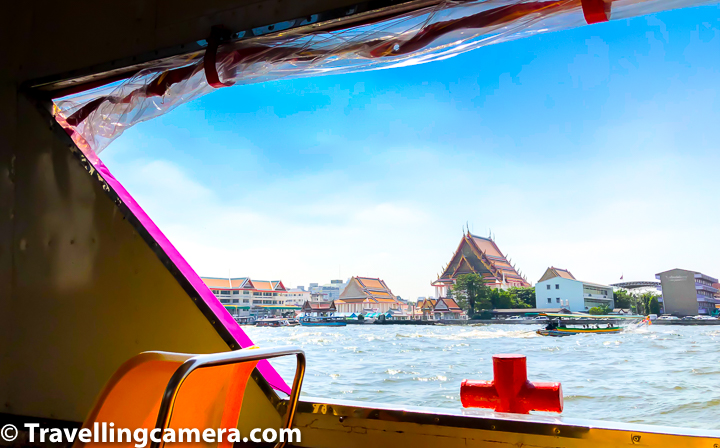 While taking boat ride around Chao Phraya River in Bangkok, you can see Wat Arun, Wat Pho, Royal Palace from distance and lot of other places which are popular from Tourism standpoint. We took our boat from Phra Arthit to China Town.    Related Blogpost from Thailand - Snorkeling near Phi Phi Islands, Walk along Kata and Kata Noi Beaches || 10-Day Vacation in Thailand (Day 6)