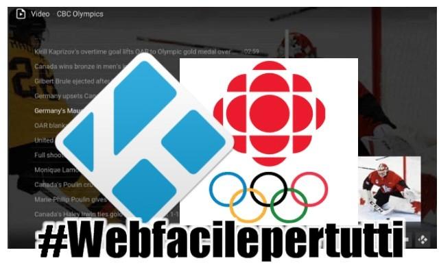 CBC Olympics Kodi | Add-on Con gli highlights di tutte le discipline delle Olimpiadi invernali 2018