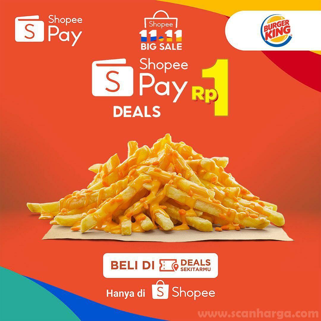 Beli Voucher Makan Burger King Puas Murahnya di Shopee cuma Rp 1,-