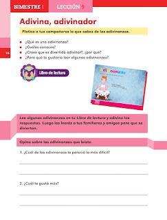 Apoyo Primaria Español 1er grado lección 9 Adivina, adivinador