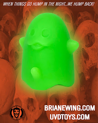 New York Comic Con 2019 Exclusive Ghost Boner eRecto Cooler Edition Glow in the Dark Resin Figure by Brian Ewing x UVD Toys