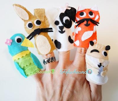 Titeres-de-dedo-muy-faciles-en-fieltro-mascotas-creandoyfofucheando