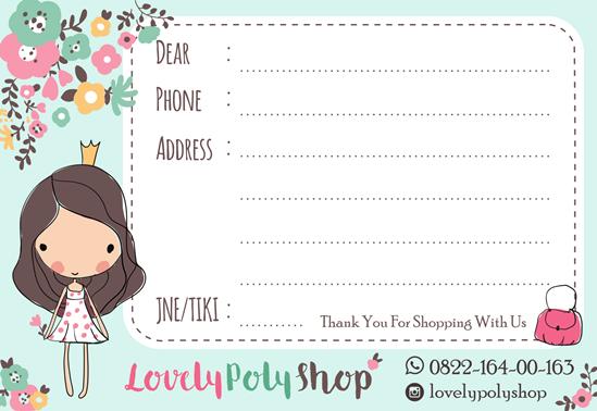 Online Shop Shipping Label Design | Ipietoon-Cute Blog Design