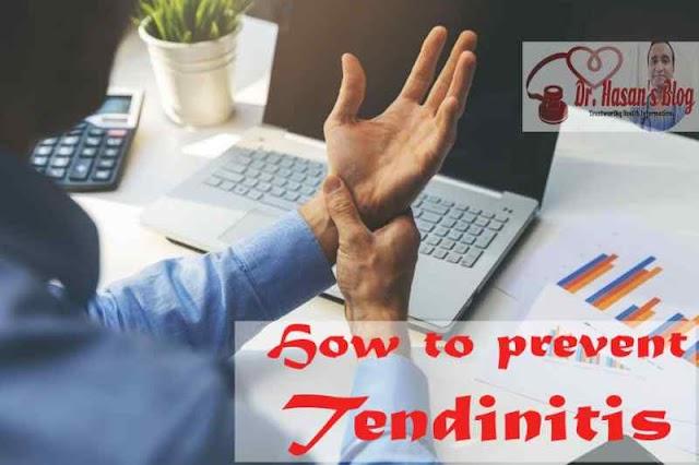 How to prevent tendinitis?
