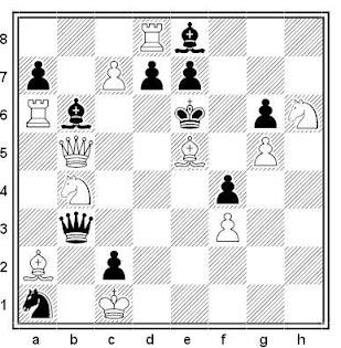Problema de mate en 2 compuesto por Aleksandar Popovski (2ª Plaza, Match Holanda-Yugoslavia 1996)