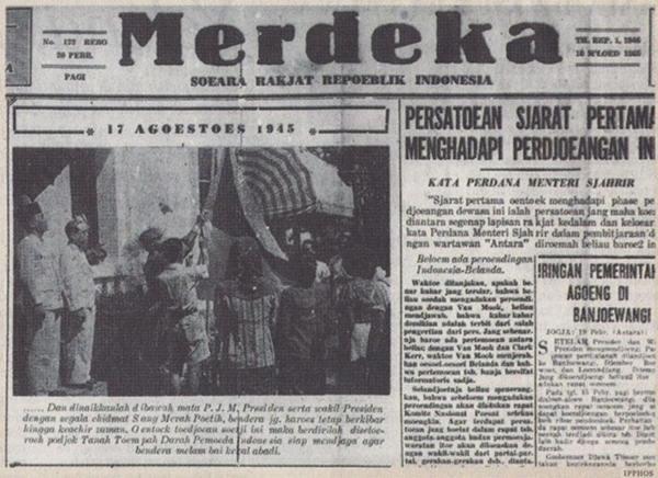 Koran yang memuat berita Proklamasi