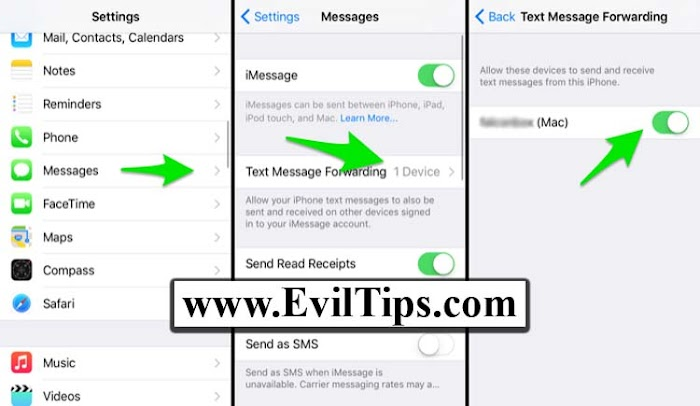 How To Activate Text Message Forwarding iPhone X