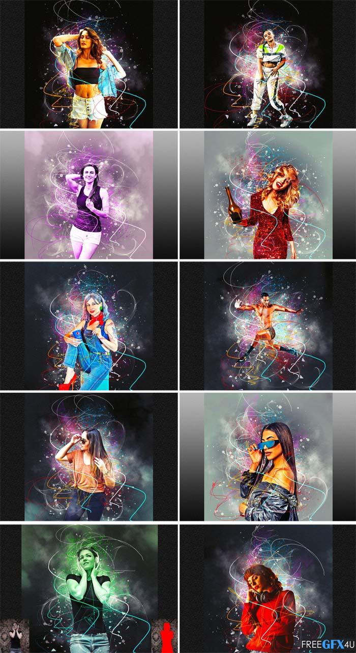 Plasma Effect Photoshop Action
