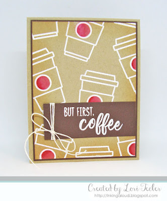 But First, Coffee card-designed by Lori Tecler/Inking Aloud-stamps from Honey Bee Designs