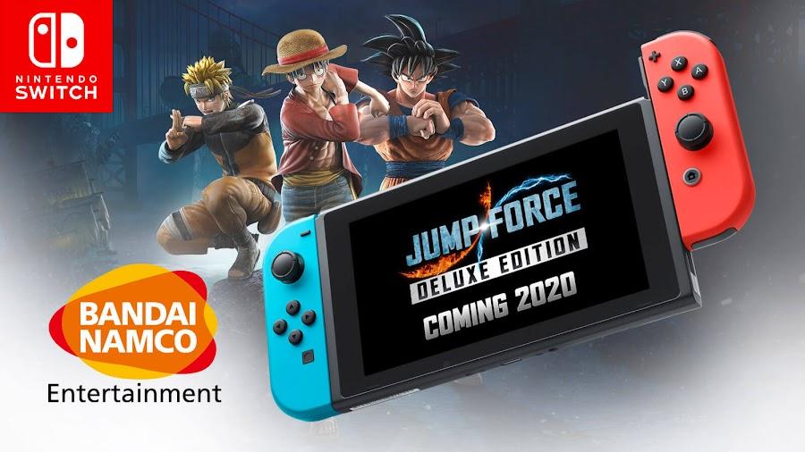 jump force nintendo switch crossover fighting game goku monkey d luffy naruto spike chunsoft bandai namco entertainment