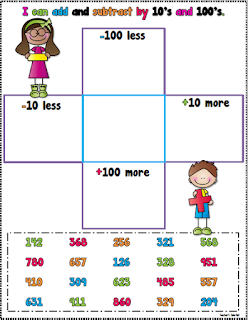 add and subtract by 10s and 100s