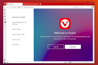 Vivaldi 2.6 Release, Install on Ubuntu / Debian and MX Linux