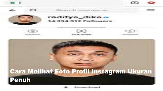 Cara Melihat Foto Profil Instagram Ukuran Penuh
