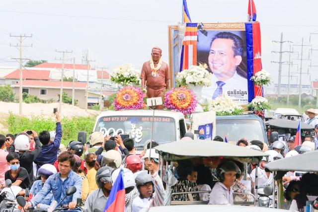 Cérémonie des cent jours à la mémoire du docteur Kem Ley. Photographie fournie