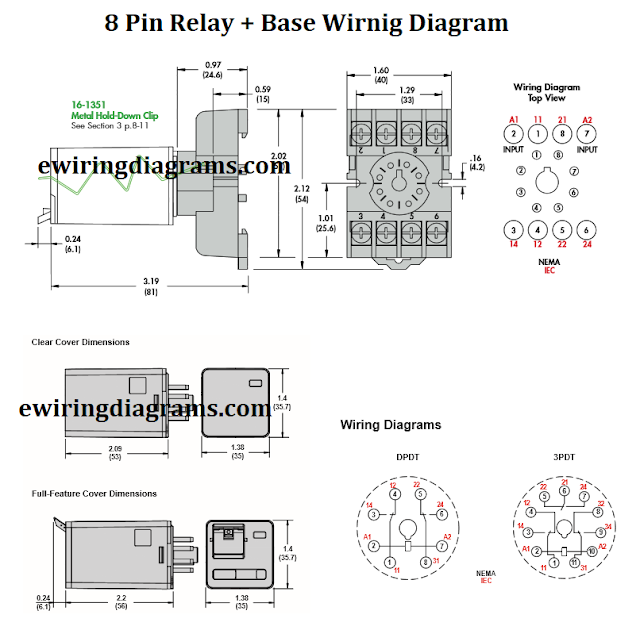8 pin relay base wiring diagram