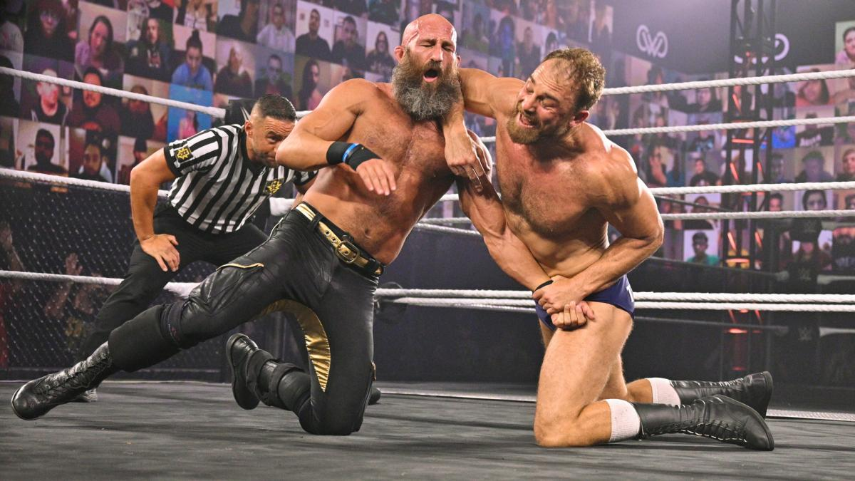 Tommaso Ciampa and Timothy Thatcher in WWE NXT TakeOver: WarGames 2020