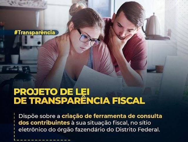 O deputado Iolando protocola PL em que estabelece a disposição de ferramenta para consulta de situação fiscal