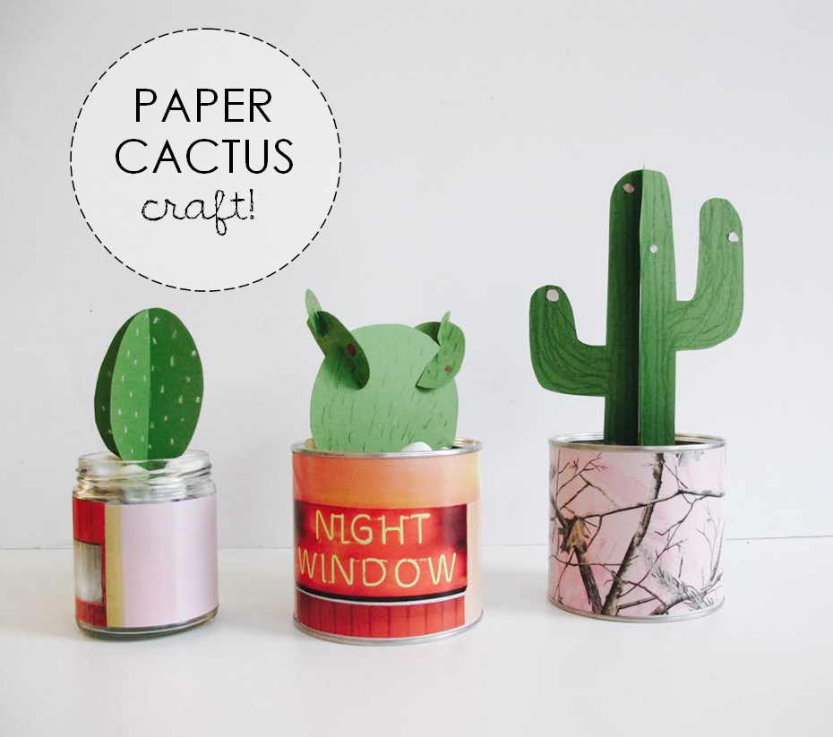 how to: paper cactus craft