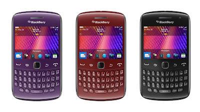 BlackBerry Curve 9360 in purple, red, black