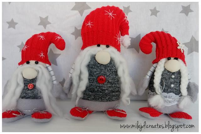 Skrzaty świąteczne, krasnale na Boże Narodzenie DIY. Christmas gnome DIY