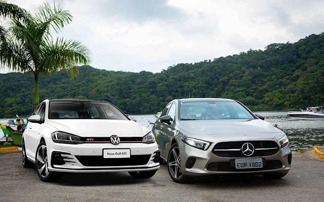 Mercedes A250 x Volkswagen Golf GTI 2019