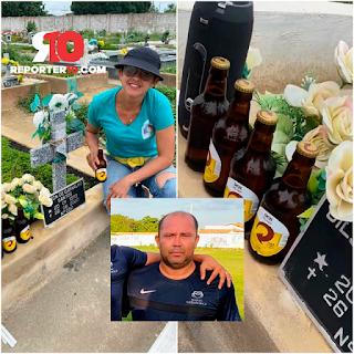 Família comemora aniversário de falecido com cerveja no Piauí