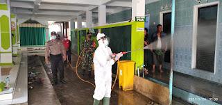 Pasca Haul Habib Sholeh,  Empat Lokasi Sekitar Disemprot Disinfektan