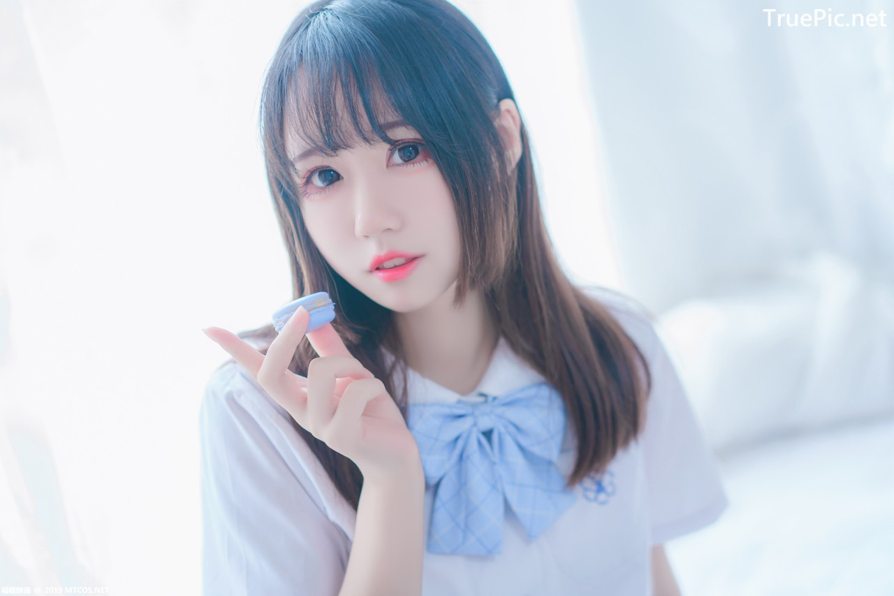 Image [MTCos] 喵糖映画 Vol.019 – Chinese Cute Model – Blue White Fantasy Girl - TruePic.net - Picture-3