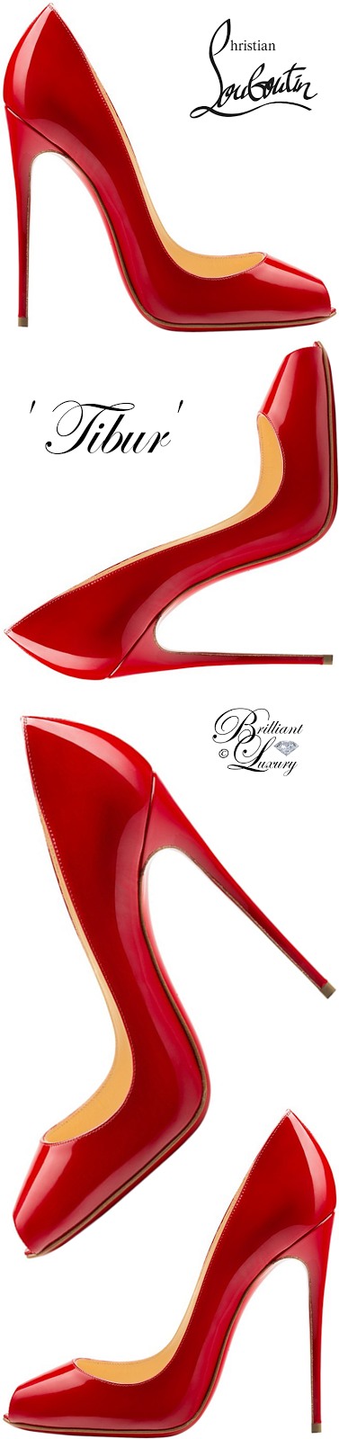 Brilliant Luxury ♦ Christian Louboutin Tibur Open Toe Red Sole Pump #red
