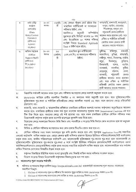 জনপ্রশাসন মন্ত্রণালয় নিয়োগ বিজ্ঞপ্তি 2019