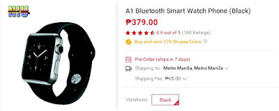Shopee A1 Bluetooth Smart Watch Phone