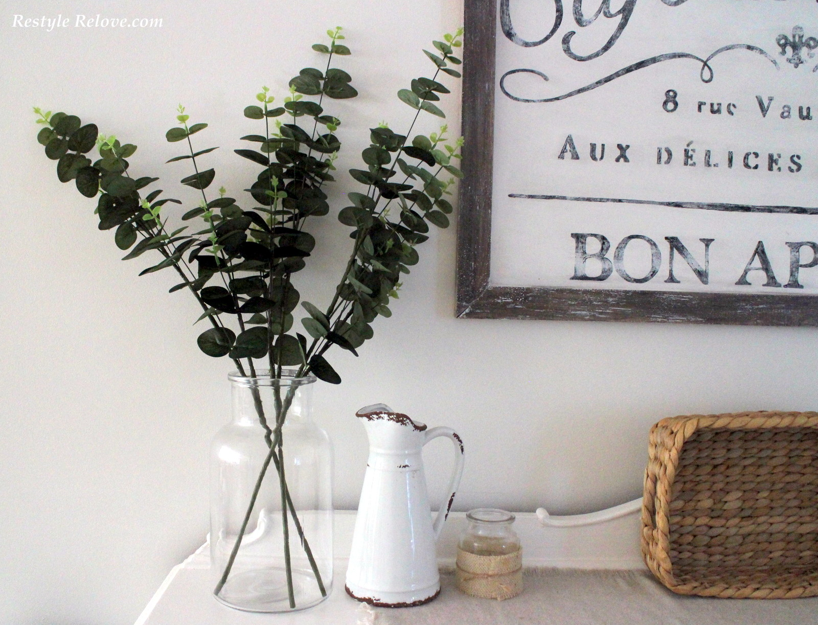 Crushing On Faux Greenery And Clear Glass Vases And Bottles