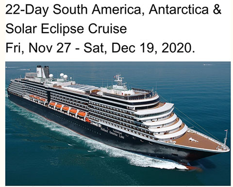 It is time to start looking at options for the 2020 total solar eclipse (Source: Holland America)