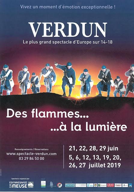 """VERDUN (55) - Spectacle """"Des flammes...à la lumière"""" (21 juin-27 juillet 2019)"""