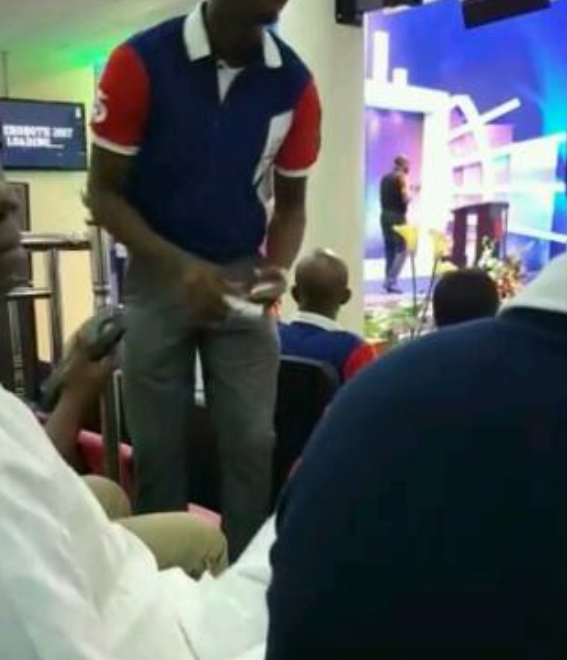 Viral News Update: Photos Of Church Members Paying Church Dues With ATM Via