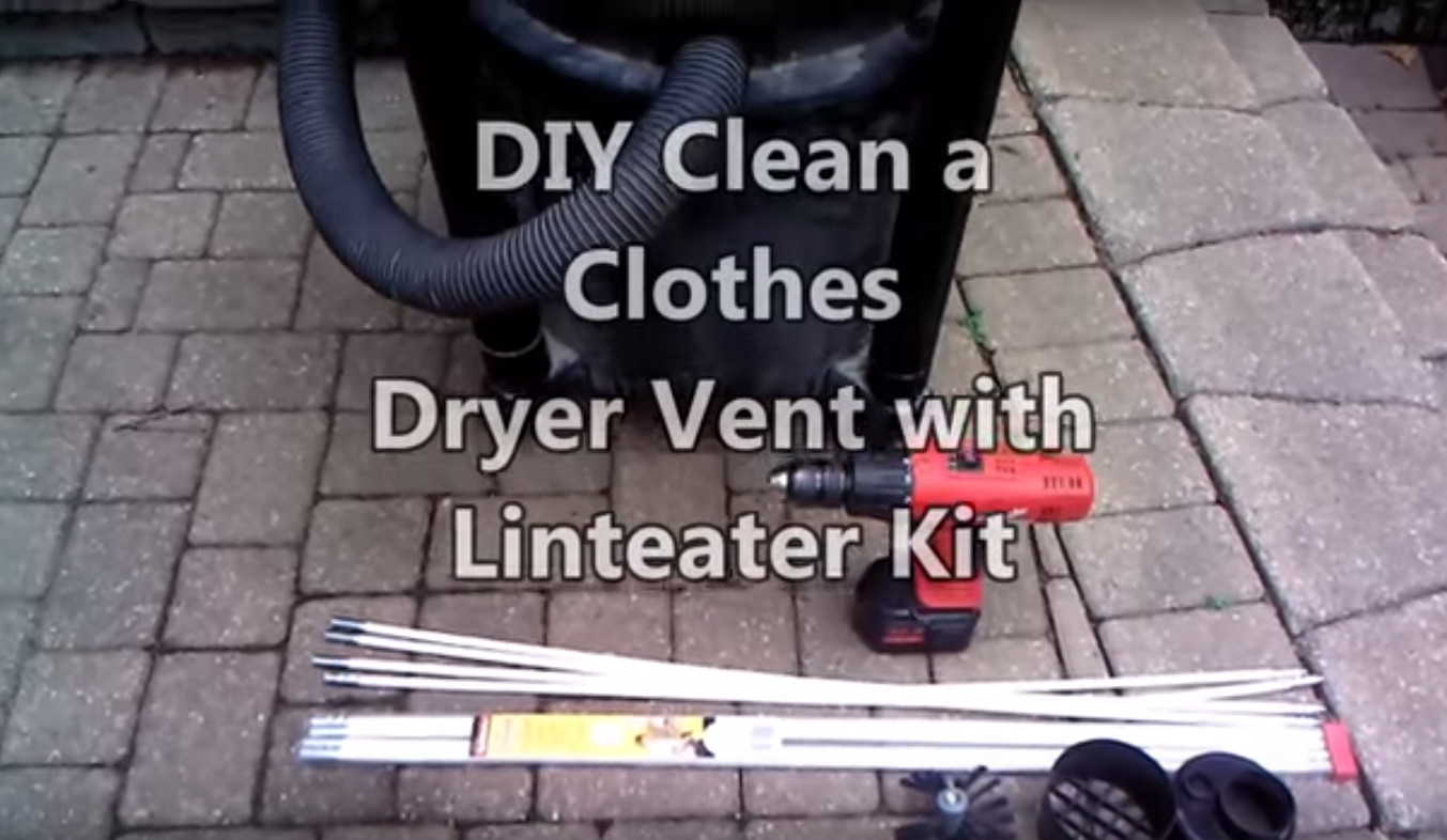 diy clean a clothes dryer vent with linteater kit