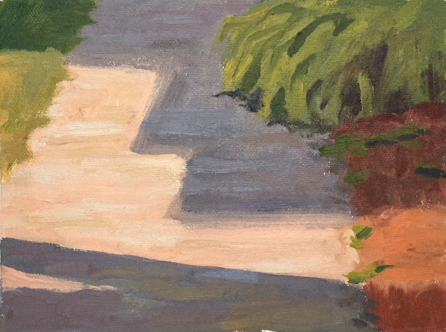 plein air painting in front yard Jun 4 2019