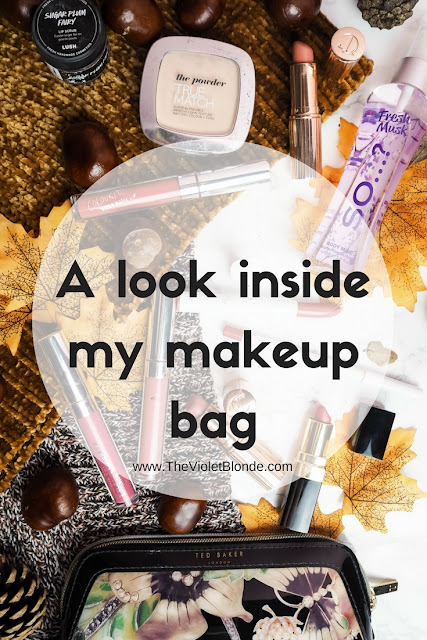 A look inside my makeup bag