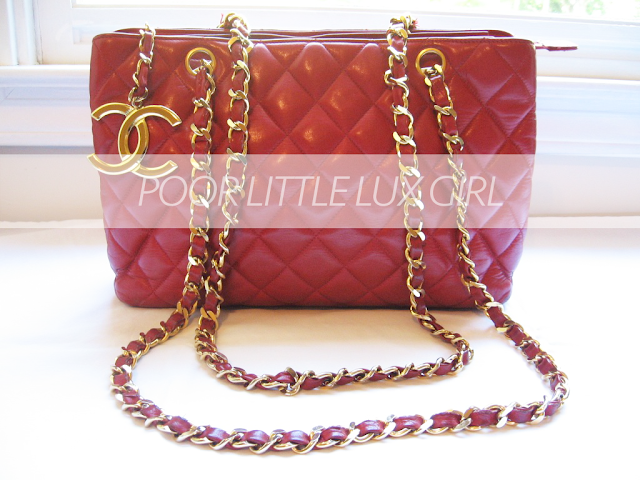 dbae4d798416 POOR LITTLE LUX GIRL: Cheap Thrift of the Day: Vintage Red Chanel ...