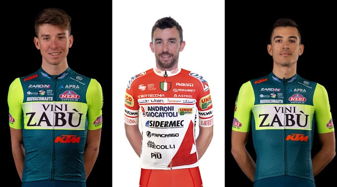Lorenzo Fortunato, Francesco Gavazzi y Luca Wackermann formaran parte del Eolo - Kometa