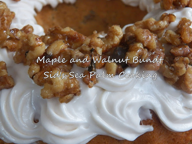 Maple and Walnut Bundt Cake