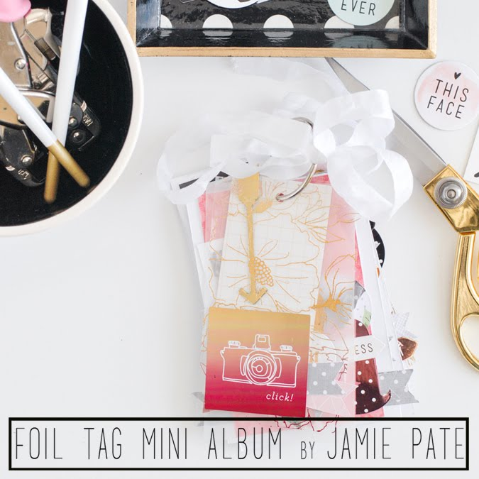 Foil Tag Mini Album Class on Big Pictures Classes by @jamiepate