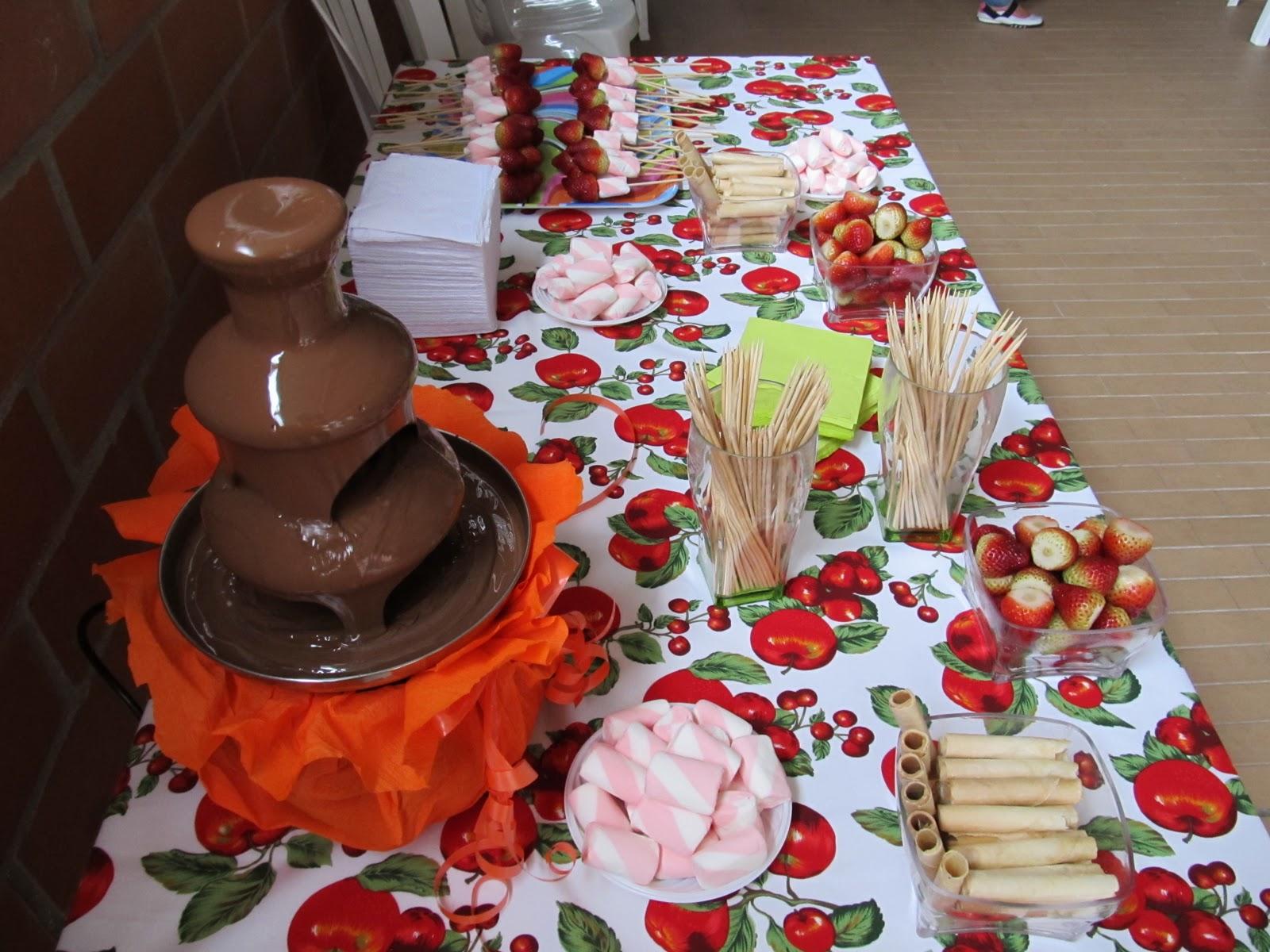 fuente de chocolate para fiestas infantiles primera