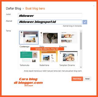 cara daftar blog baru di blogger